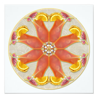 Tropical Drink Mandala 5.25x5.25 Square Paper Invitation Card