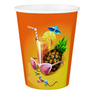 Tropical Drink paper cups