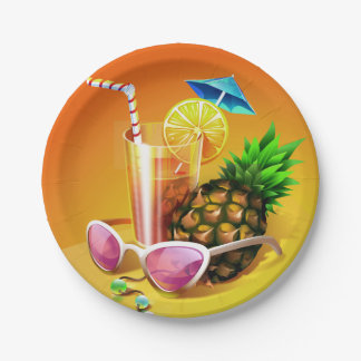Tropical Drink paper plates