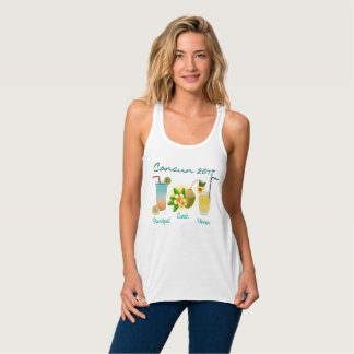 Tropical Drinks Cocktails Vacation Date Tank Top