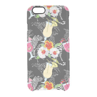 Tropical Drinks With Animals Clear iPhone 6/6S Case