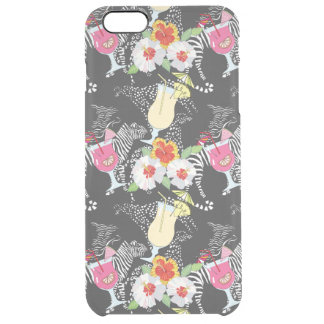 Tropical Drinks With Animals Clear iPhone 6 Plus Case
