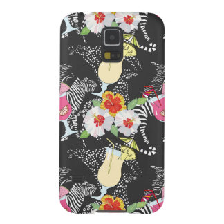 Tropical Drinks With Animals Galaxy S5 Cases