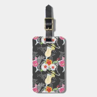 Tropical Drinks With Animals Luggage Tag