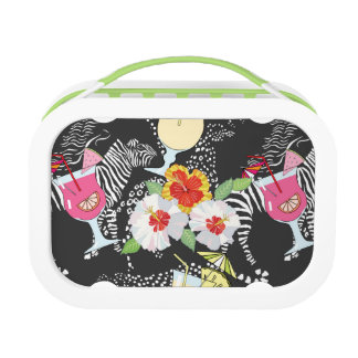 Tropical Drinks With Animals Lunch Boxes
