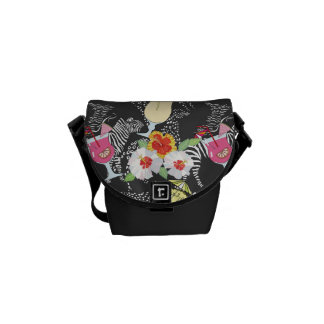 Tropical Drinks With Animals Messenger Bags