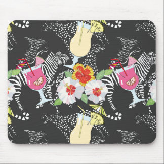 Tropical Drinks With Animals Mouse Pad