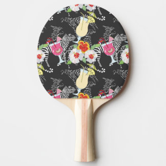 Tropical Drinks With Animals Ping-Pong Paddle