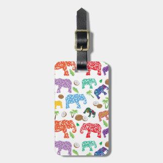 Tropical Elephants Bag Tag
