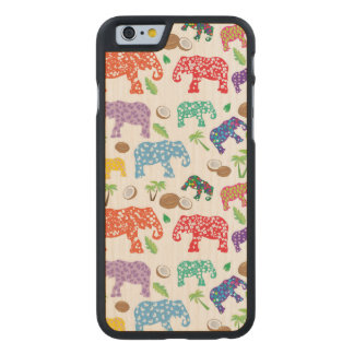 Tropical Elephants Carved® Maple iPhone 6 Slim Case