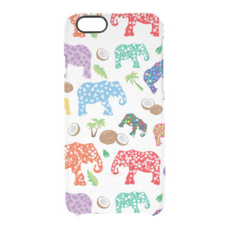 Tropical Elephants Clear iPhone 6/6S Case