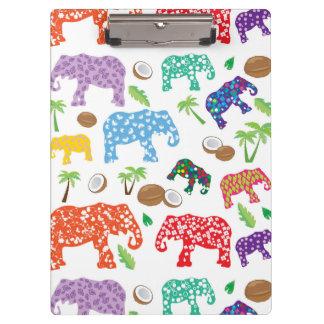 Tropical Elephants Clipboards