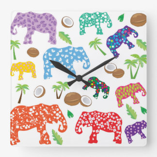 Tropical Elephants Clocks