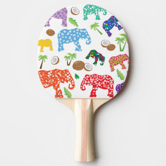 Tropical Elephants Ping Pong Paddle
