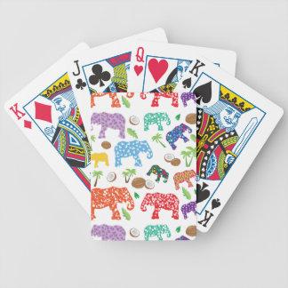 Tropical Elephants Poker Deck