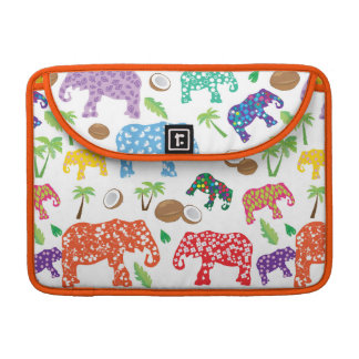 Tropical Elephants Sleeves For MacBook Pro