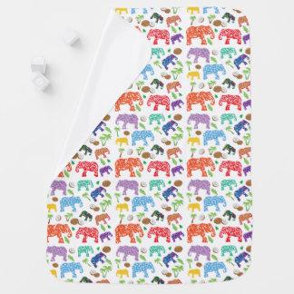 Tropical Elephants Swaddle Blankets