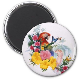Tropical Enchantment 2 Inch Round Magnet