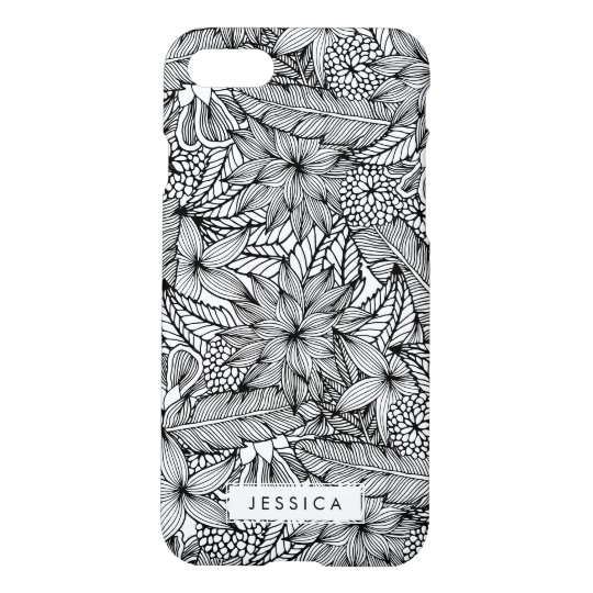 Tropical Escape Black and White iPhone 7 Case
