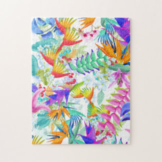 Tropical Exotic Flowers Jigsaw Puzzle