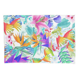 Tropical Exotic Flowers Pillowcase