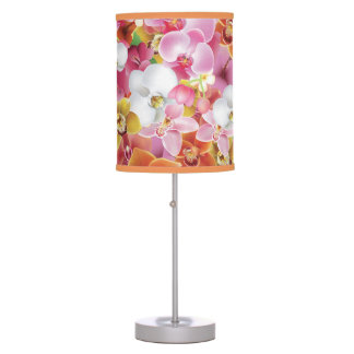 Tropical Exotic Flowers Print Table Lamp Design