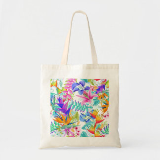 Tropical Exotic Flowers Tote Bag