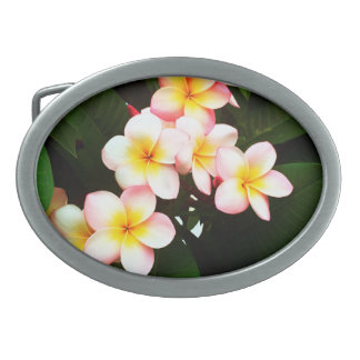 Tropical Exotic Frangipani Flower Belt Buckles