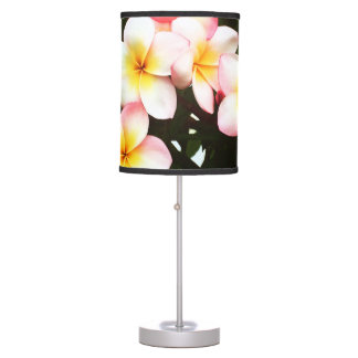 Tropical Exotic Frangipani Flower Table Lamps