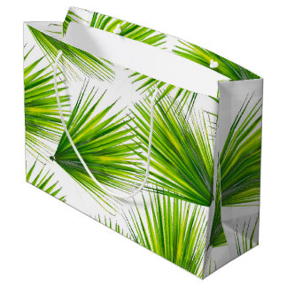 Tropical Exotic Hawaiian Palm Fronds Large Gift Bag