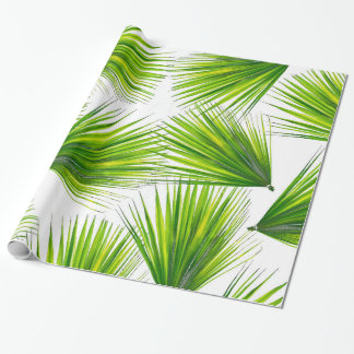Tropical Exotic Hawaiian Palm Fronds Wrapping Paper