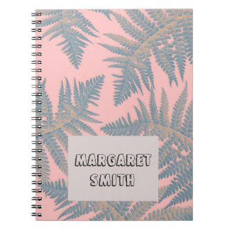 Tropical, exotic notebook with your name