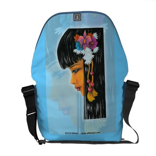 Tropical Faerie Courier Bags
