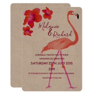 Tropical Famingo Wedding Invitation