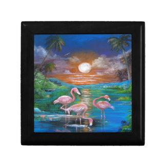 Tropical Famingos Gift Box