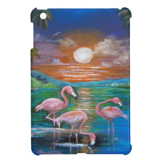 Tropical Famingos iPad Mini Covers