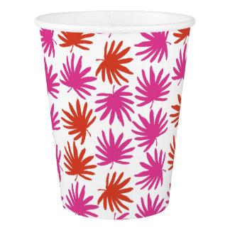 Tropical Fan Print Paper Cups