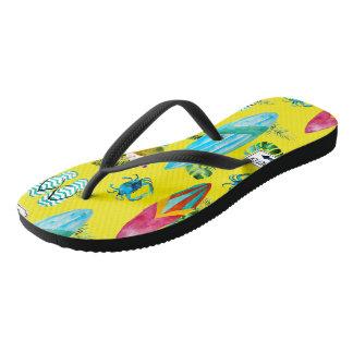 Tropical Fashion Flip Flops