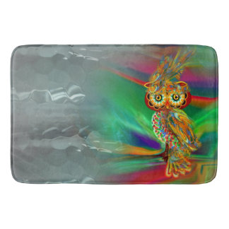 Tropical Fashion Queen Owl Bath Mat