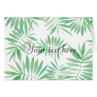 Tropical Fern palm storm Card