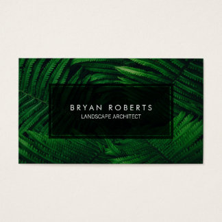 Tropical Fern Professional Landscape Architect Business Card