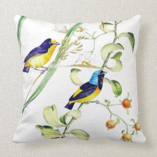 Tropical Finch Birds Wildlife Animal Throw Pillow