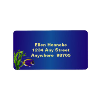 Tropical Fish 1 Label