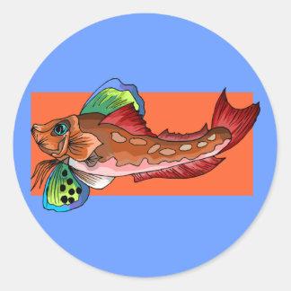 Tropical Fish 1 Popular Cool Retro Fish Classic Round Sticker