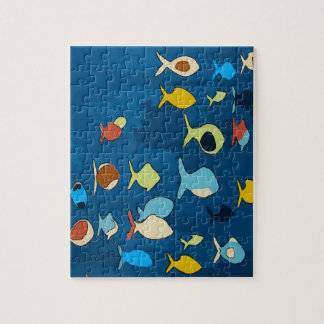 Tropical Fish Abstract Jigsaw Puzzle