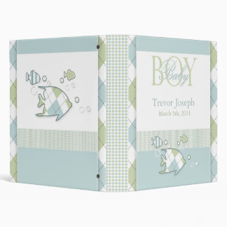 Tropical Fish Baby Boy Photo Album Binder