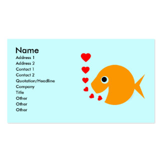 Tropical Fish  Breeder Pool Maintenance Card Pack Of Standard Business Cards