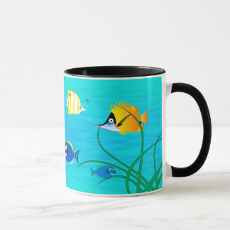 TROPICAL FISH COFFEE MUG, HAWAI OR TAHITI FISH MUG
