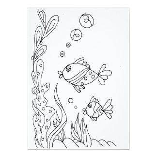 Tropical Fish Coloring Card