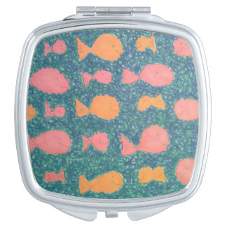 Tropical Fish Compact Makeup Mirror